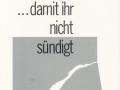 ... damit ihr nicht sündigt   Hans-Peter Grabe