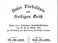 UNser Verhältnis zum Heiligen Geist  - Theam der  6. Königsberger Gemeinschaftskonferenz 1903